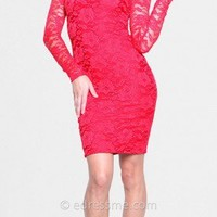 Long Sleeved Lace Homecoming Dresses by Atria