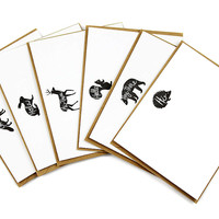 Woodland Animal Hello Card Set of 12