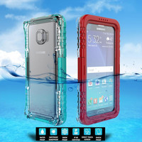 Underwater Waterproof Case for Samsung Galaxy S6 Edge+ Swimming Diving Watertight Transparent Cover for Note 5 S6 Edge Plus High Quality