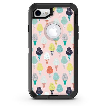 The All Over Pink Ice Cream Cone Pattern - iPhone 7 or 8 OtterBox Case & Skin Kits