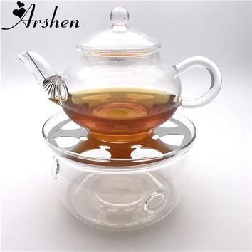 Arshen Durable Heat-Resisting Crystal Teapot Coffee Water Scented Tea Warmer Candle Heater Base Metal Heat Conduction Pad