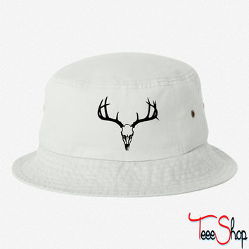 deer skull bucket hat