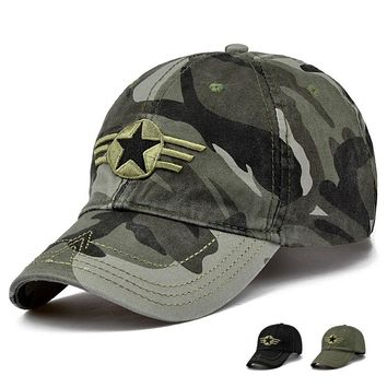 2017 New Arrival Men Pentagram Cap Top Quality Baseball Caps Camouflage Hunting Fishing Hat Outdoor Camo Baseball Hats Adjustabl
