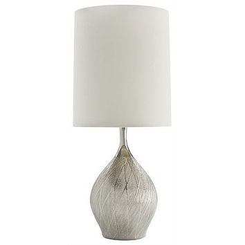 Arteriors Home Carey Metallic Silver Mesh Porcelain Table Lamp