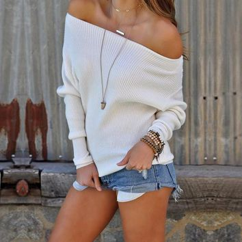 Coco Off-the-Shoulder Slouched Sweater