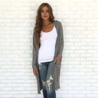 This Is How We Do It Trench Knit Cardigan