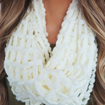 Feel The Chill Scarf: Ivory