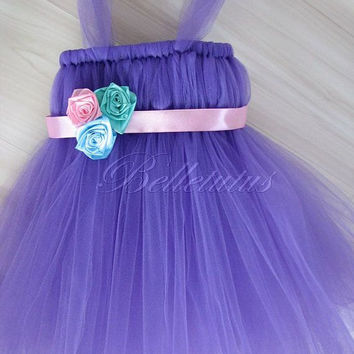 Flower girl tutu – baby tutu dress – empire waist tutu – birthday tutu dress – wedding tutu dress – party tutu dress – pageant tutu