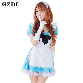 GZDL Women France Japan Beer Maid Outfit Uniform Cosplay Costume Halloween Fancy Pleated Dress Sexy Babydoll Underwear SY4164 Macchar Cosplay Catalogue