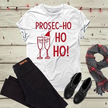 Wine Christmas drinking t-shirt Holiday Champagne shirt Funny graphic Wine glass celebration gift party style cute tees goth top