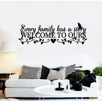 Vinyl Wall Decal Quote Words Saying Home Family Welcome Stickers Mural (g390)