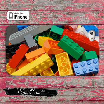 Lego cute funny blocks Custom iPhone 4 and 4s Case and Custom iPhone 5 and 5s and 5c Case