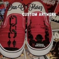 Custom Vans Django Unchained Custom Artwork. Shoes included from Dan-O Florez Custom Artwork