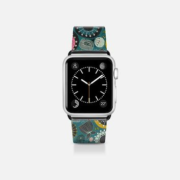 BLOOMS teal apple watch band Apple Watch Band (38mm) by Sharon Turner | Casetify