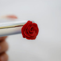 red flower rose, Dust Plug  Phone Dust Stopper Earphone Cap Headphone Jack Charm for iPhone 5 4 4s ,iPad ,Samsung s2 s3, 3.5mm