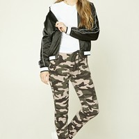 Zippered Camo Print Joggers