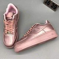 Nike AF1 ULTRA FLYKNIT LOW Fashion Casual Fashion Sneakers Running Sports Shoes Rose Golden G-CSXY