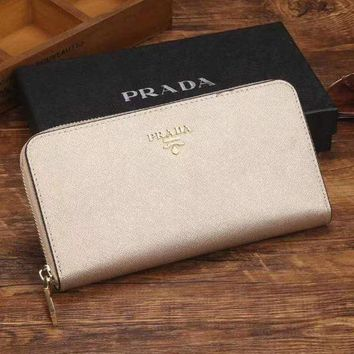 PEAPJ3V Prada Women Fashion Leather Zipper Wallet Purse-19