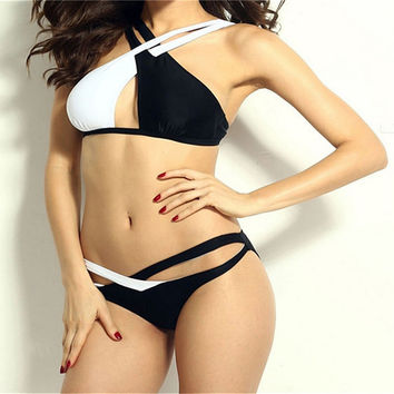 Hot Swimwear Bandage Bikini 2016 Beach Swimwear Women Swimsuit Bathing Suit Bikini Set