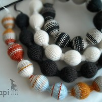 Knitted necklance by okapiknits on Etsy