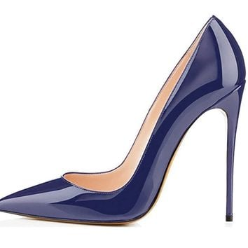 Soireelady Womens Pointed Toe High Heels Slip on Stiletto Pumps Wedding Party Basic Shoes
