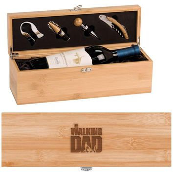 The Walking Dad Wine Box - One Bottle Set with Tools