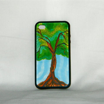 Spring Awakening, iPhone case, iPhone cover, iPhone 4/4s, tree, nature, spring, summer, indie, preppy, one of a kind, art, fantasy, folk