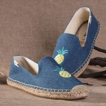 Soludos Women Platform Pineapple Slipper