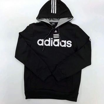 Black Adidas Hooded Loose Sweatshirt Hoodies Sweater H-A-GHSY-1 One-nice™