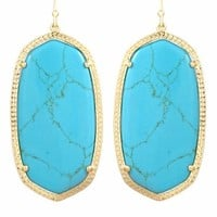 Danielle Gold Earrings in Turquoise - Kendra Scott Jewelry