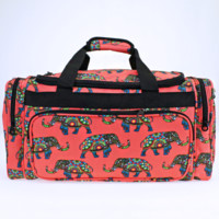 Boho Elephant Travel Duffle Bag