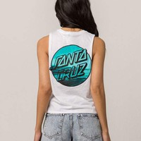SANTA CRUZ Crop Womens Muscle Tank