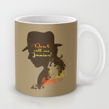Don't call me Junior! – Indiana Jones Silhouette Quote Mug by Spades