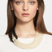 Women's St. John Collection Two-Tone Faux Pearl Multistrand Necklace