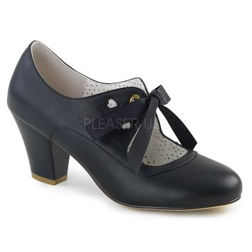 Pin Up Couture Black Wiggle Bow Tie Pumps
