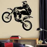 Wall Decal Vinyl Sticker Dirty Motocross Moto Sport Extrime Kids  r1363