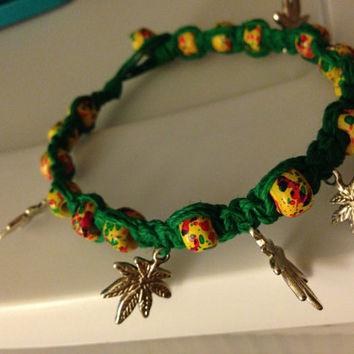 Maryjane Rasta Hemp Anklet/Bracelet  by xOnexLovexJewelry on Etsy