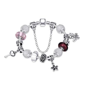 Butterfly And Chain Detail Bracelet