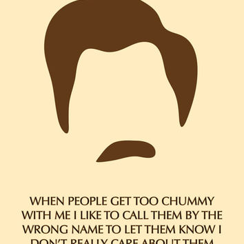 Parks and Rec - Ron Swanson - Sarcastic Funny Quote - Greeting Card - Printable Card - Digital Download - Graphic Design