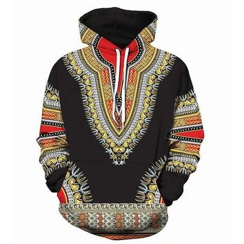 ONETOW 2018 new large size 3D Hoodie Dashiki African Cotton men women Hoodies Sweatshirts 3d hoodie Sweatshirt for moletom feminino