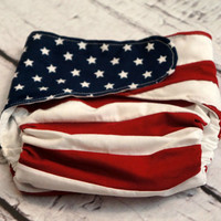 Baby Boy American Flag Patriotic Diaper Cover for Photo Shoots