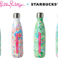 Lilly Pulitzer + Starbucks Printed S'well Water Bottles | RESORT 365