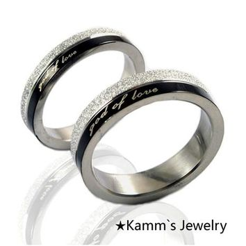 His And Hers Promise Ring Sets Stainless Steel God Of Love Anniversary Gifts For Couple Love pairs 2017 New Arrival Hot KR016