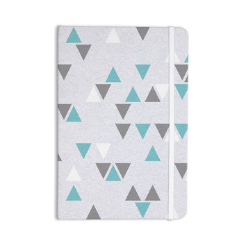 "Nick Atkinson ""Triangle Love II"" Gray Teal Everything Notebook"