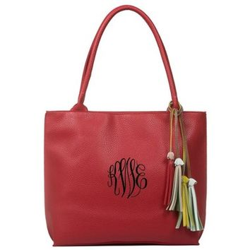Kimber Tassel Handbag - Red