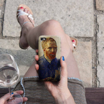 Selfportrait - Van Gogh iPhone Case 6, 6S, 6 Plus, 4S, 5S, LG, Galaxy, Sony, HTC, Huawei. Art Painting. Gift Idea. Gift for him her 2