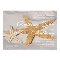 Starfish Beach Destination Wedding Invitations