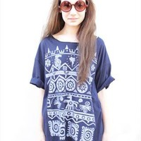 Oversize Aztec T-Shirt from MeandYu