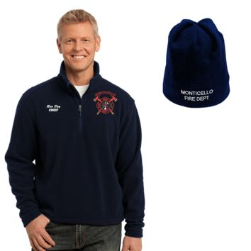 Firefighters Embroidered Jacket & Beanie Combo