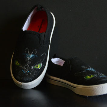How to Train Your Dragon Hand- Painted Themed Shoes